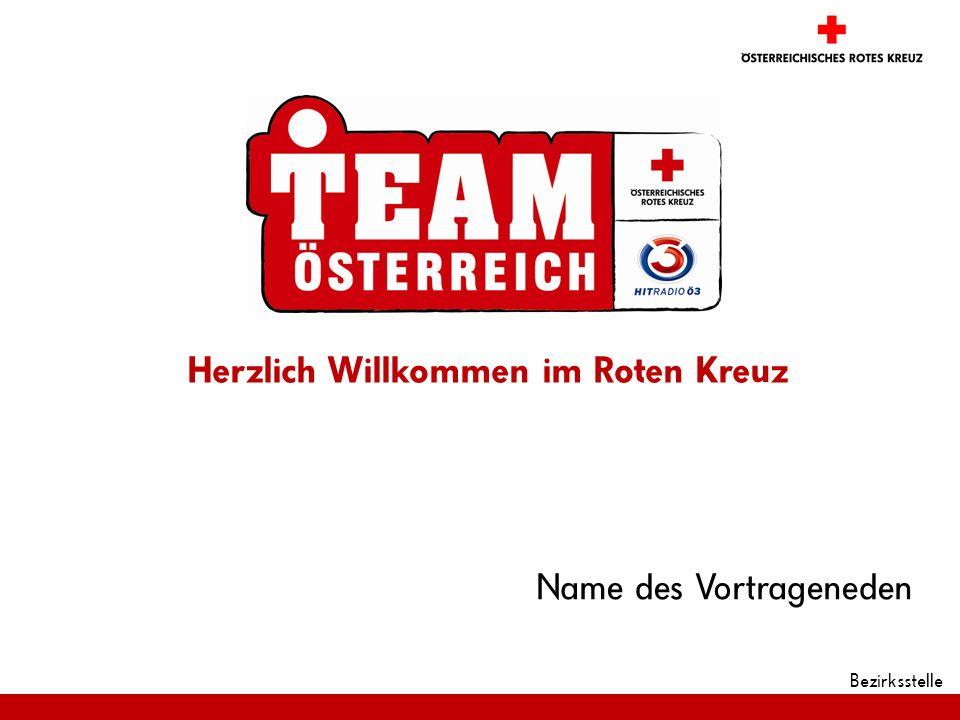 Bezirksstelle Name des Vortrageneden Herzlich Willkommen im Roten Kreuz