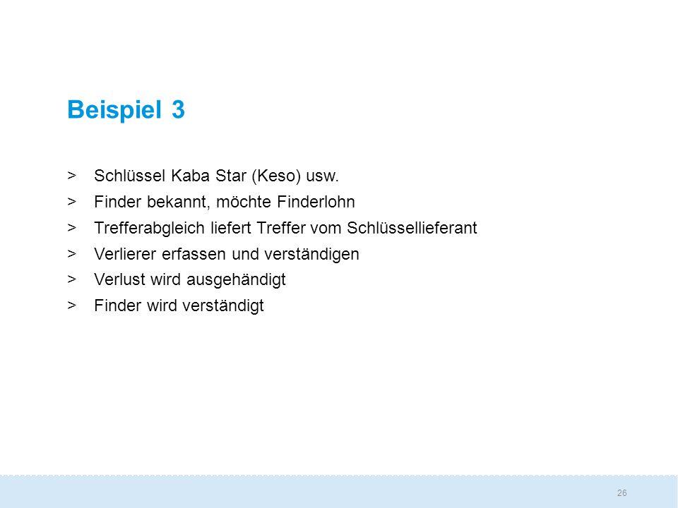 26 Beispiel 3 >Schlüssel Kaba Star (Keso) usw.
