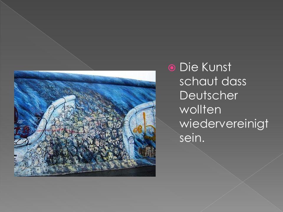 Die Kunst schaut dass Deutscher wollten wiedervereinigt sein.