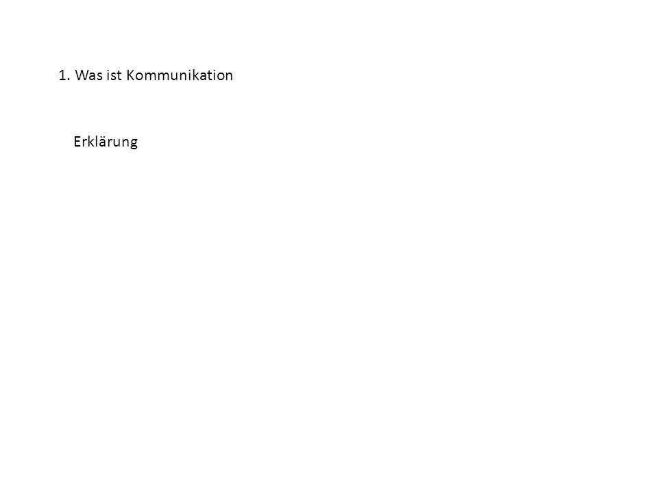2.Nennung der für uns 3 wichtigsten Kommunikationsmittel 1.