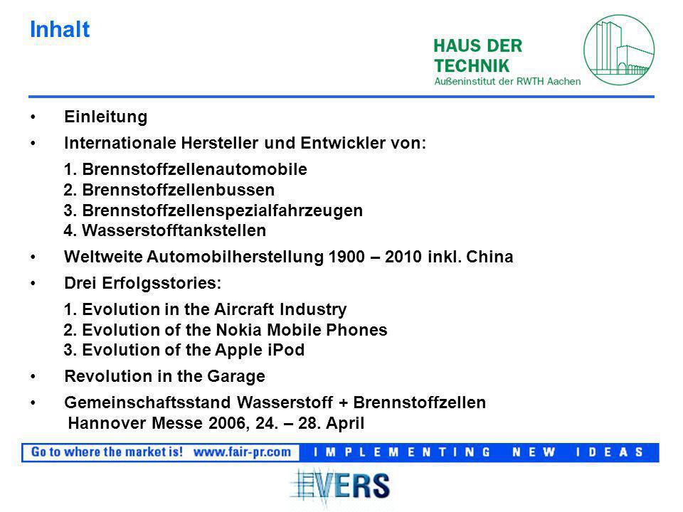 Inhalt Einleitung Internationale Hersteller und Entwickler von: 1.