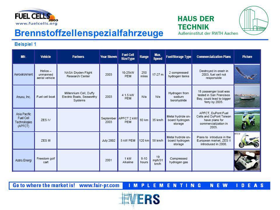 Brennstoffzellenspezialfahrzeuge Beispiel 1