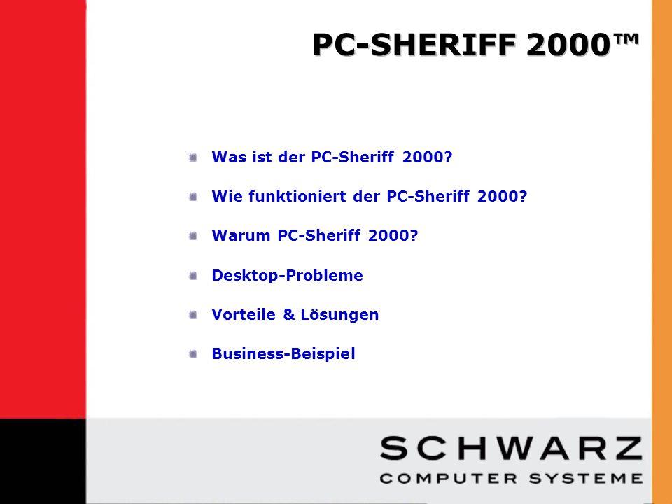 Der PC-Sheriff 2000 ist wie eine PC-Zeitmaschine.