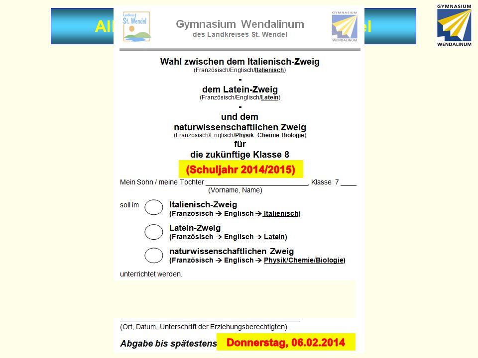 Allgemeine Mitteilungen - Wahlzettel