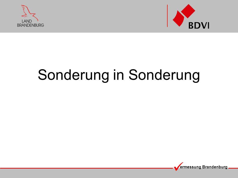 ermessung Brandenburg Sonderung in Sonderung