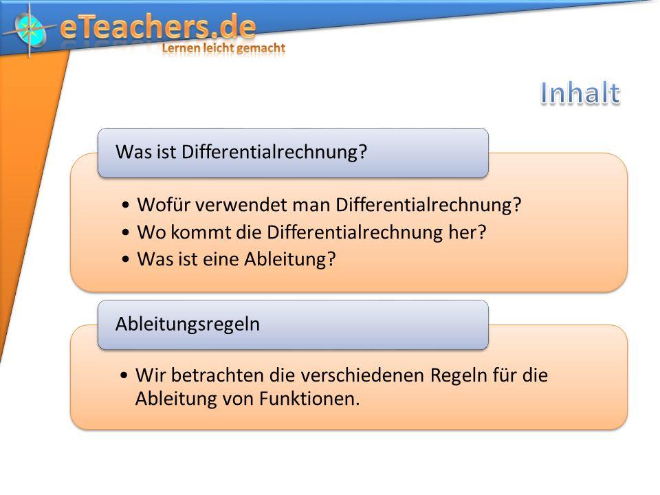 Wofür verwendet man Differentialrechnung.Wo kommt die Differentialrechnung her.