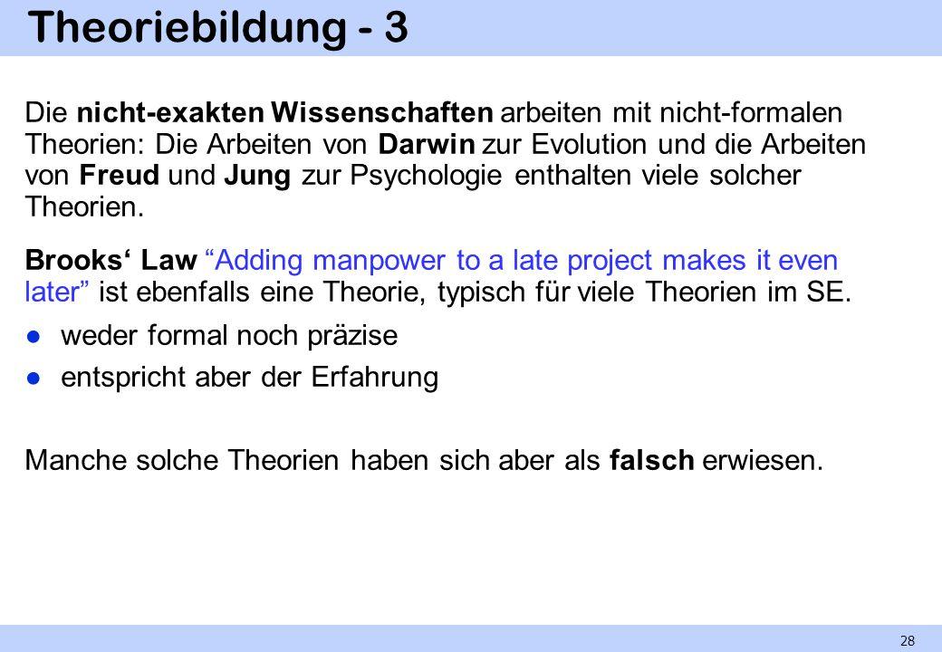 Theoriebildung - 3 Die nicht-exakten Wissenschaften arbeiten mit nicht-formalen Theorien: Die Arbeiten von Darwin zur Evolution und die Arbeiten von F