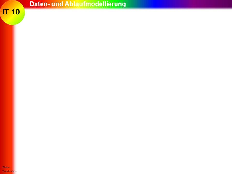 IT 10 Stefan Wiedemann Daten- und Ablaufmodellierung