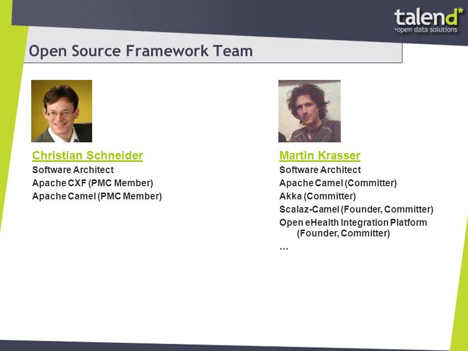 Apache Camel Routing Engine Domain Specific Language für Integrationen Unterstützt viele Enterprise Integration Patterns Flexible Deploymentoptionen: Standalone WAR OSGi Bundles Leichter Einstieg Große Anzahl Komponenten für verschiedenste Protokolle
