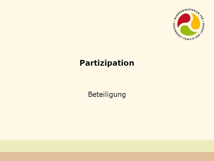 Partizipation Beteiligung