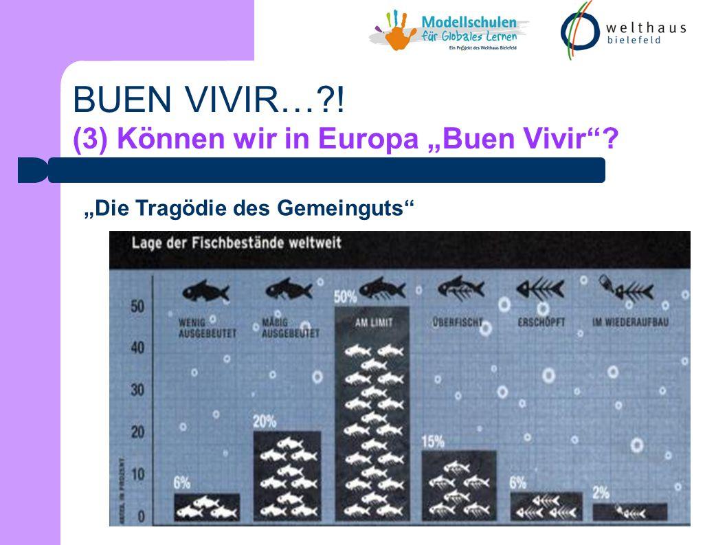BUEN VIVIR… ! (3) Können wir in Europa Buen Vivir Die Tragödie des Gemeinguts