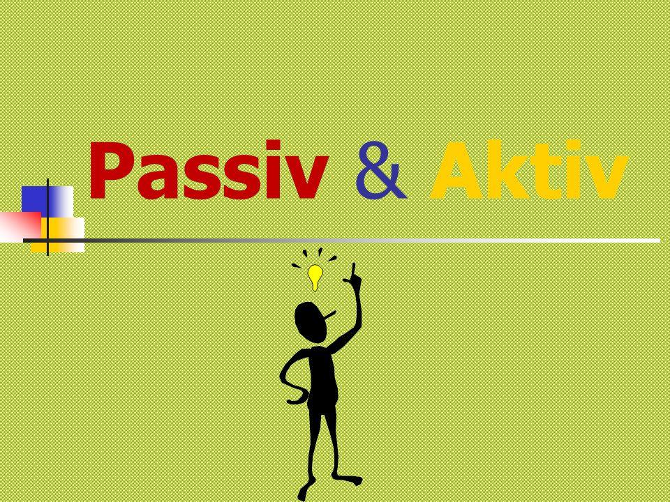 INHALT Erklärung von Passiv Regeln und Beispiele von Passiv Test