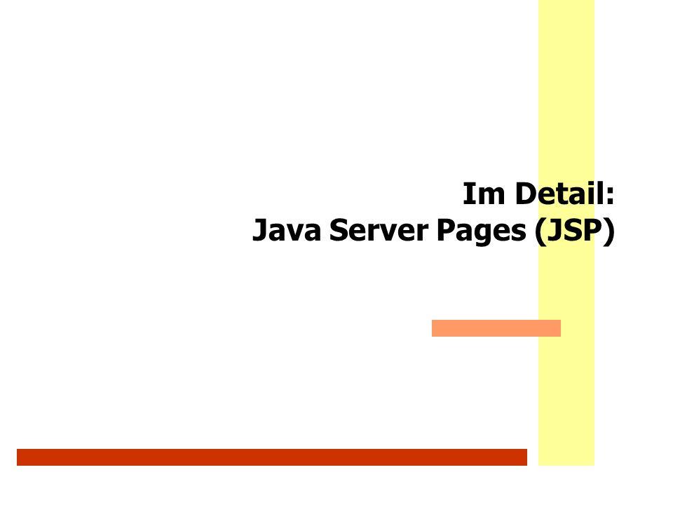 Im Detail: Java Server Pages (JSP)