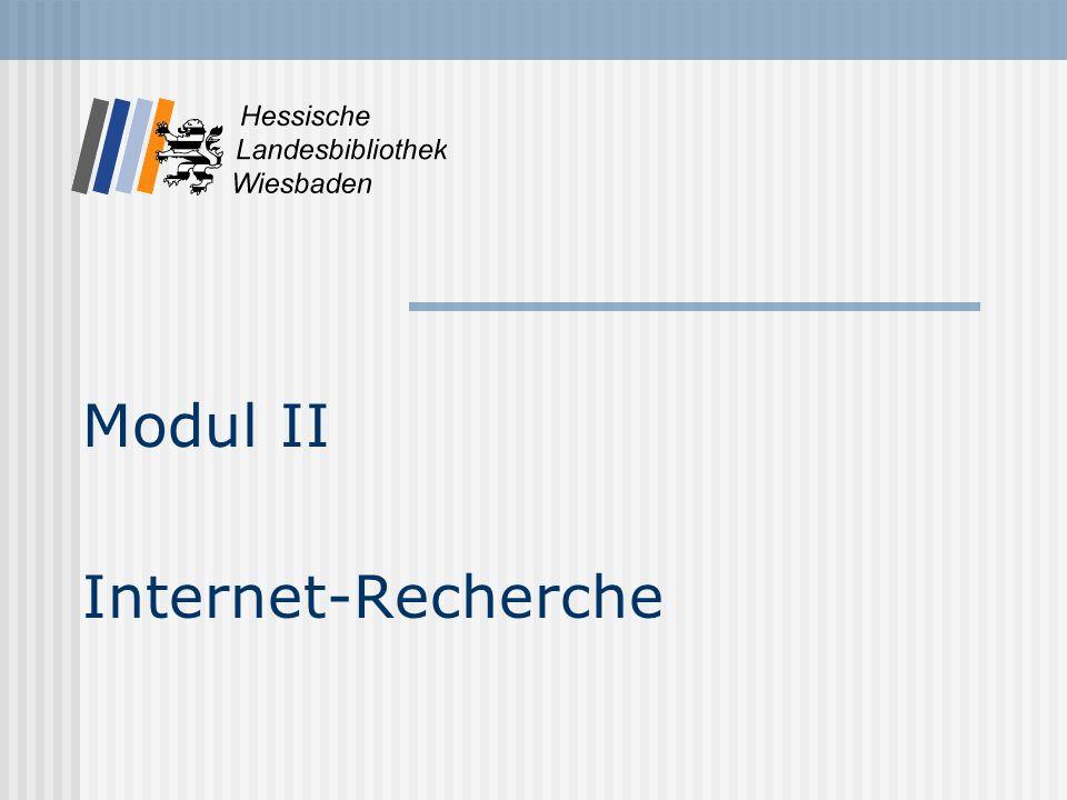 Modul II Internet-Recherche