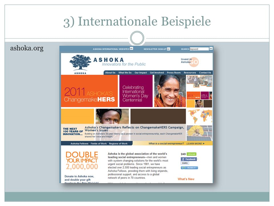 3) Internationale Beispiele ashoka.org