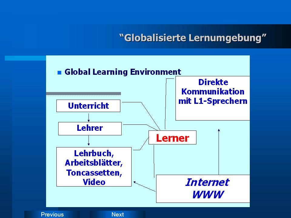NextPrevious WWW-DaF-Seiten: Merkmale global zugänglich lokal verzahnt