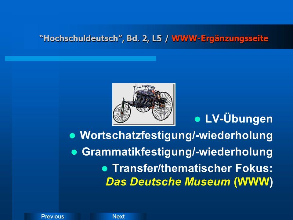 NextPrevious Hochschuldeutsch, Bd. 2, L5 / Deduktives Prinzip Hochschuldeutsch, Bd.