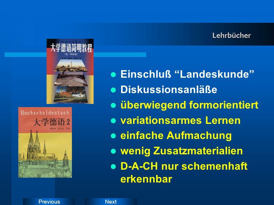 NextPrevious WWW-DaF-Seiten: Merkmale II (a) Didaktisierungsfilter zwischen Lerner und WWW (b) eigene Erstellung von WWW-Lernaufgaben / Lernumgebungen Neu: Webwerkzeuge (Software) zur HTML-Übersetzung
