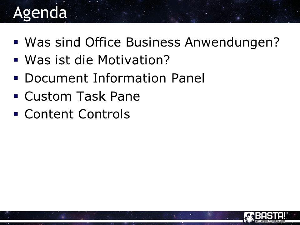 Office Business AnwendungenOfficeClientOfficeClient SharePointSharePoint LOB System
