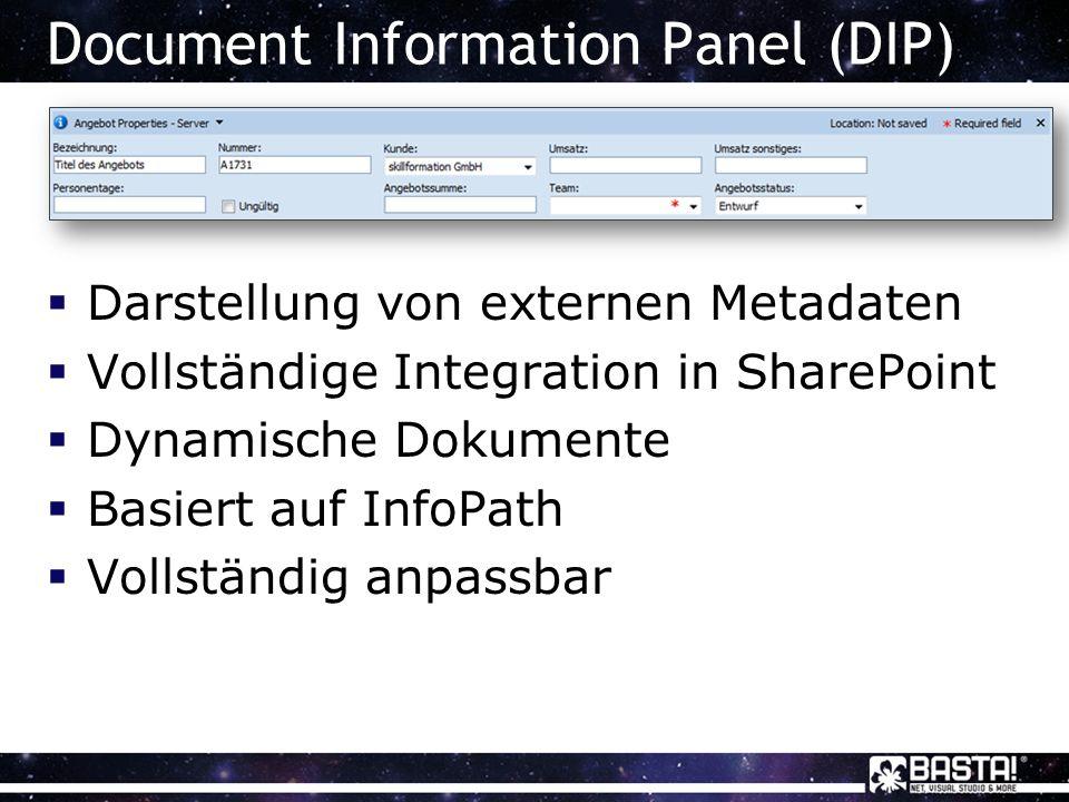 SharePoint-Vorlagen durch Content Controls automatisieren Demo