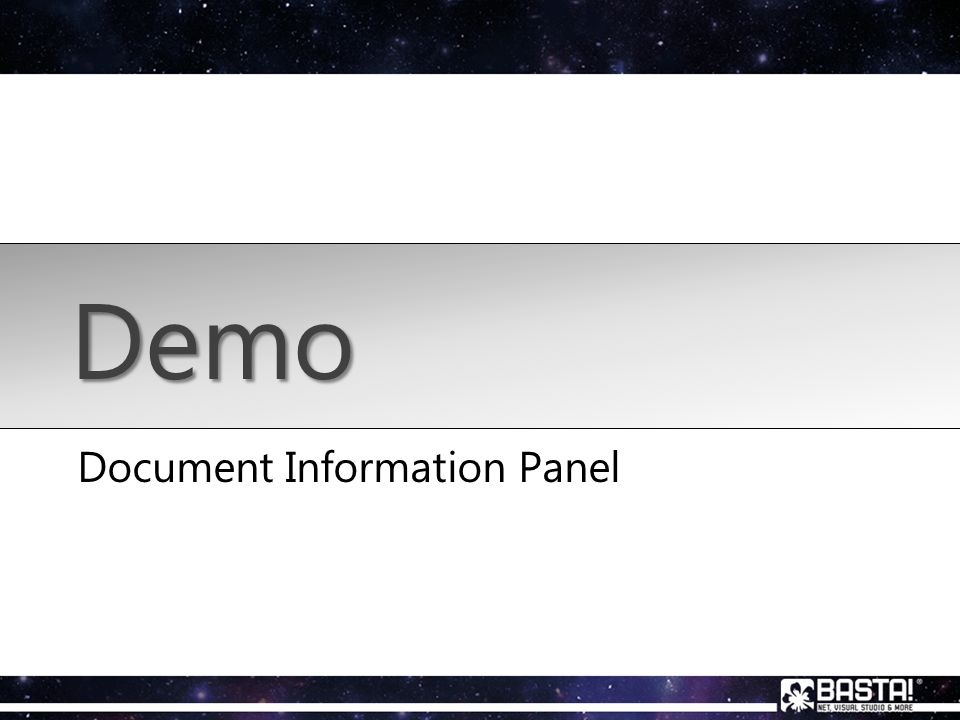 Document Information Panel Demo