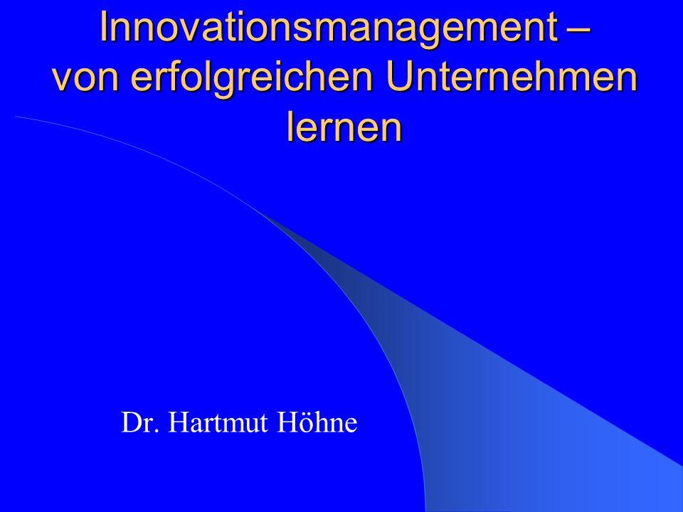 Experten über Innovation Tom Peters (Autor, ex-McKinsey):..Innovation ist eigentlich Risikomanagement...