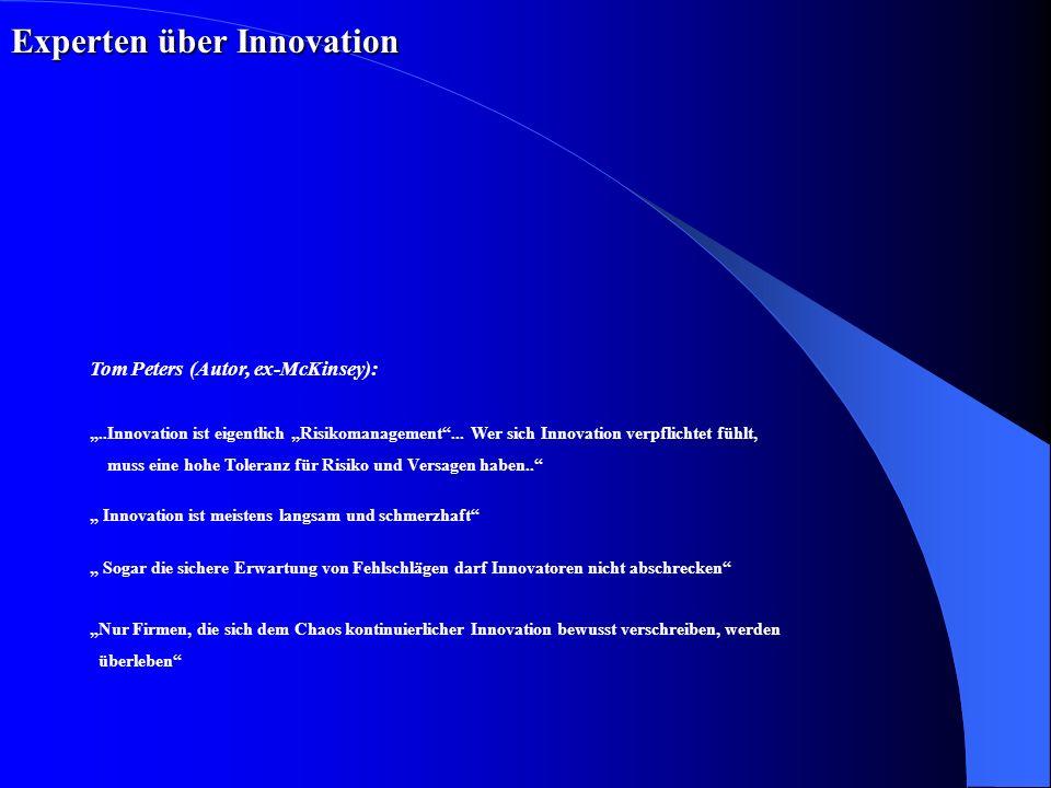 Innovationen: Ziele und Inhalte Bereitschaft, aktuelle Produkte und Geschäfte selbst obsolet zu machen Innovationen bei P&G technische Überlegenheit: kein Wert an sich Kriterien Führerschaft in allen erfolgskritischen Bereichen, wie z.B.