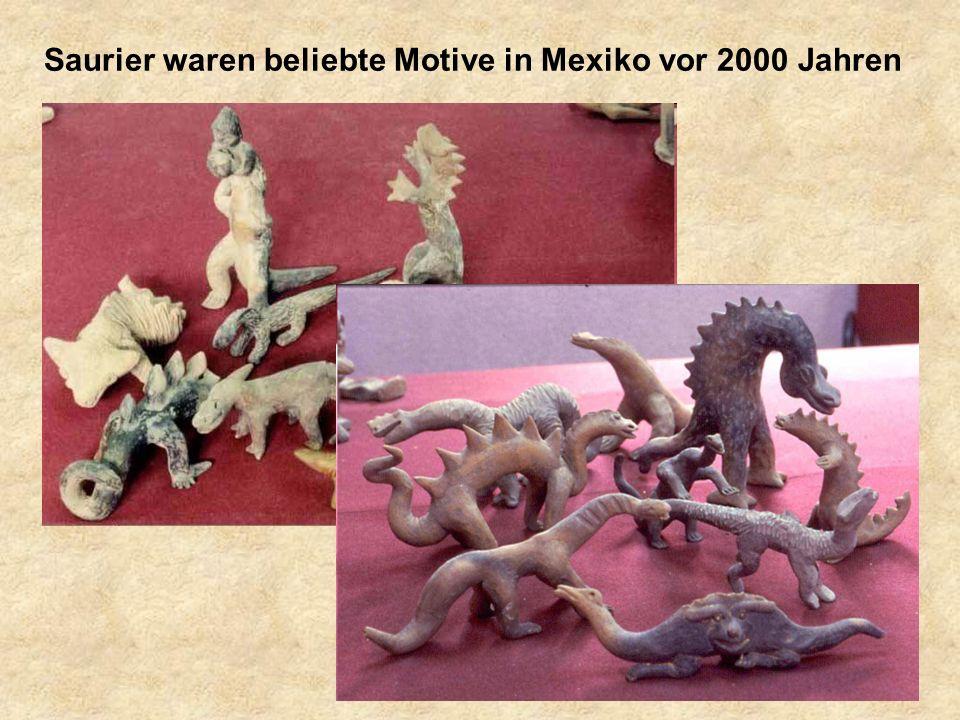 Saurier waren beliebte Motive in Mexiko vor 2000 Jahren