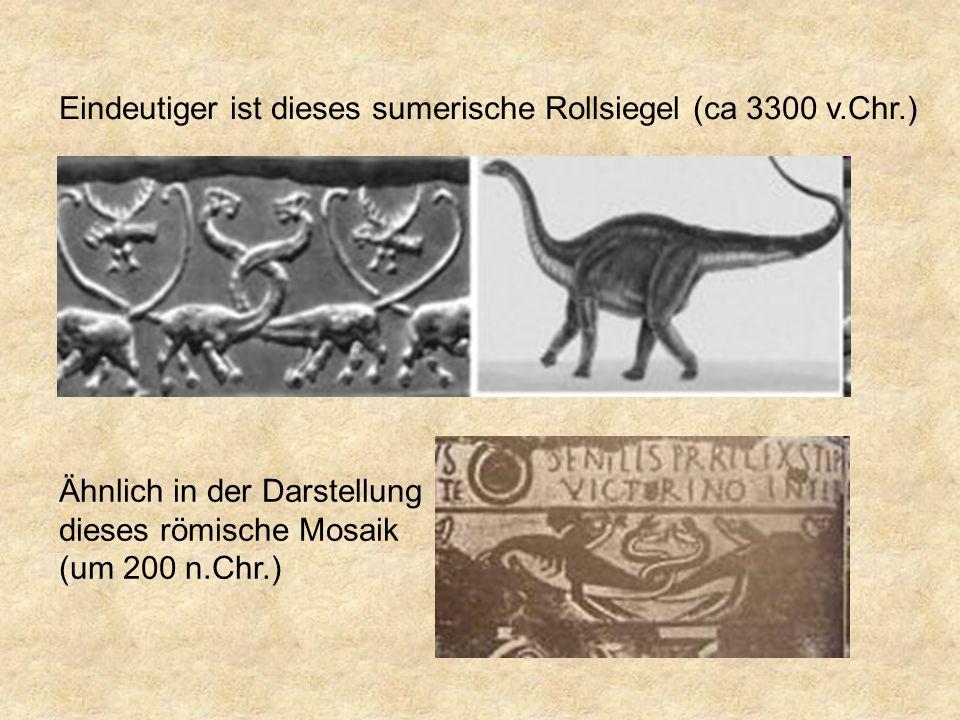 Eindeutiger ist dieses sumerische Rollsiegel (ca 3300 v.Chr.) Ähnlich in der Darstellung dieses römische Mosaik (um 200 n.Chr.)