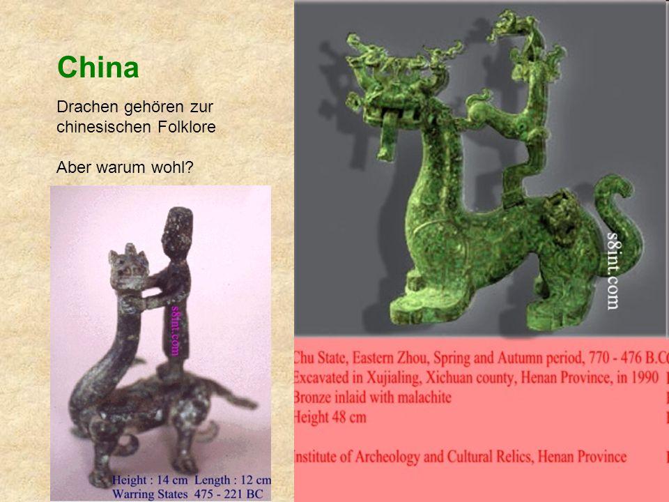 China Drachen gehören zur chinesischen Folklore Aber warum wohl?