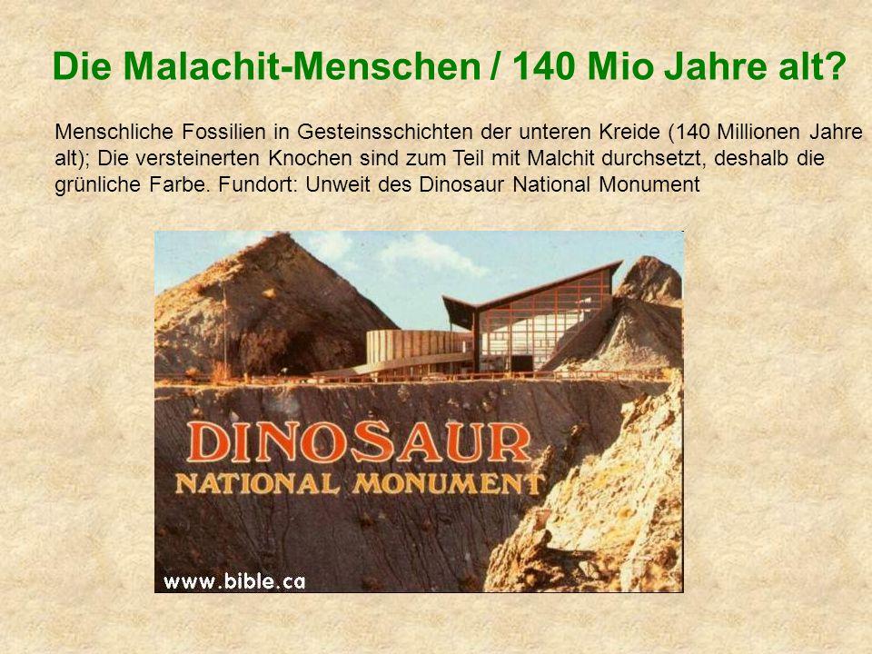 Die Malachit-Menschen / 140 Mio Jahre alt.
