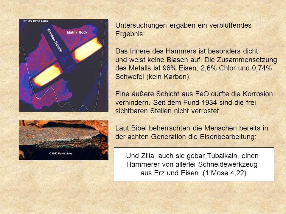 Untersuchungen ergaben ein verblüffendes Ergebnis: Das Innere des Hammers ist besonders dicht und weist keine Blasen auf.