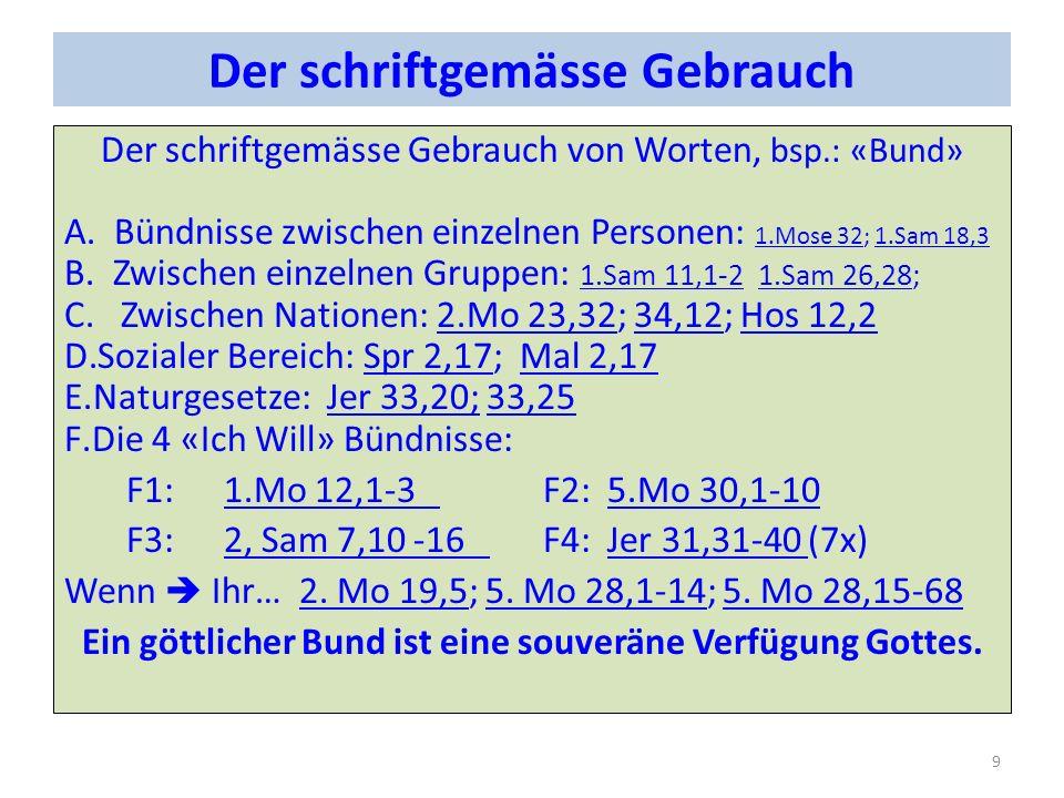 Der Bund mit Abraham Verheissung: Land: 1.Mo 12,1; 1.