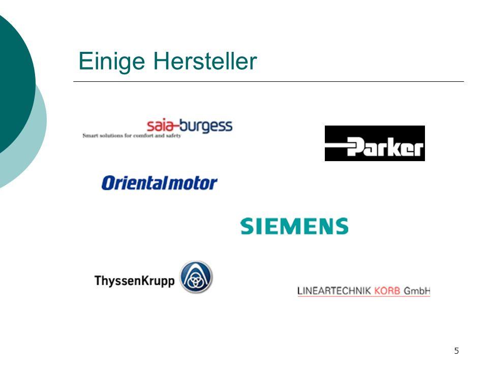 5 Einige Hersteller