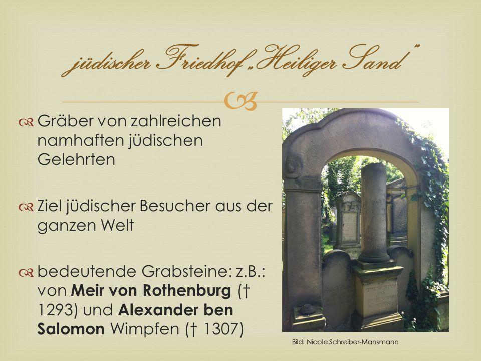 jüdischer Friedhof Heiliger Sand Gräber von zahlreichen namhaften jüdischen Gelehrten Ziel jüdischer Besucher aus der ganzen Welt bedeutende Grabstein