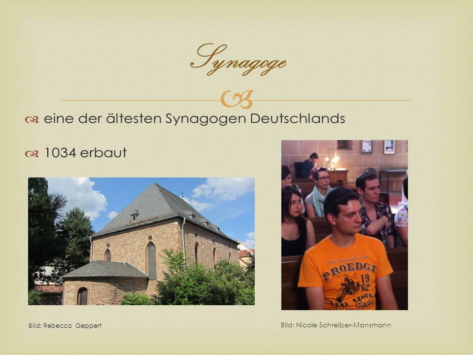 Synagoge Bild: Nicole Schreiber-Mansmann Bild: Rebecca Geppert