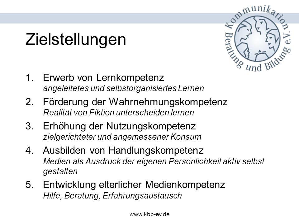 www.kbb-ev.de Inhalt und Methoden (I) Situationsansatz (lebensbezogene und kindorientierte Themen) –So dauerhafte Integration der medienpädagogische Arbeit.