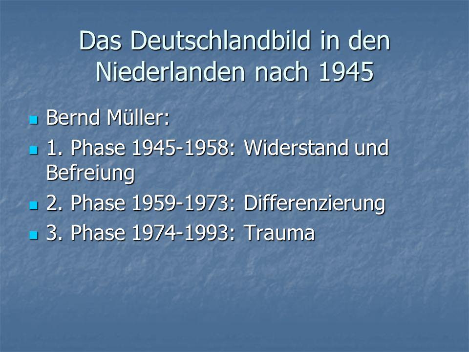 Das Deutschlandbild in den Niederlanden nach 1945 Bernd Müller: Bernd Müller: 1. Phase 1945-1958: Widerstand und Befreiung 1. Phase 1945-1958: Widerst