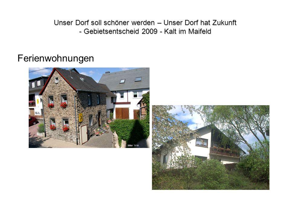 Unser Dorf soll schöner werden – Unser Dorf hat Zukunft - Gebietsentscheid 2009 - Kalt im Maifeld Ferienwohnungen