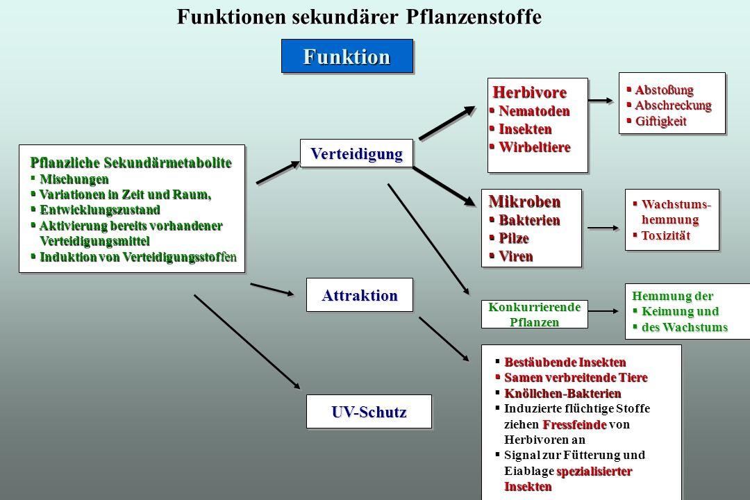 Primäre und sekundäre Metabolite können nicht einfach unterschieden werden aufgrund der chemischen Struktur, ihrer Biosynthese oder Verwandschaft zu biosynthetischen Vorstufen.