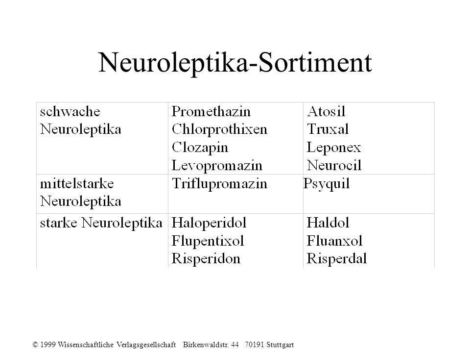 © 1999 Wissenschaftliche Verlagsgesellschaft Birkenwaldstr. 44 70191 Stuttgart Neuroleptika-Sortiment