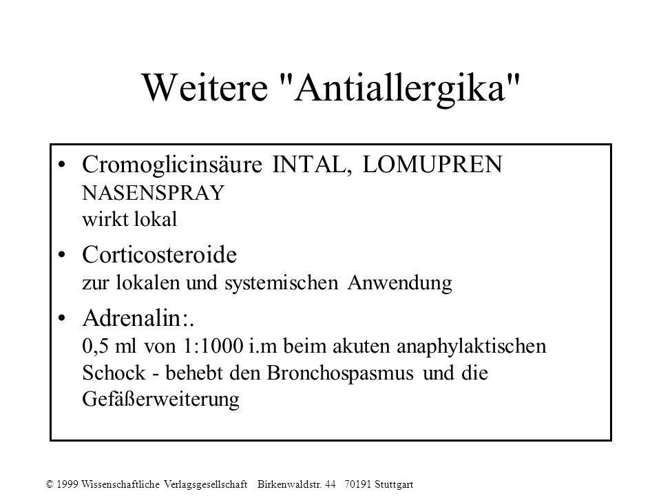 © 1999 Wissenschaftliche Verlagsgesellschaft Birkenwaldstr. 44 70191 Stuttgart Weitere