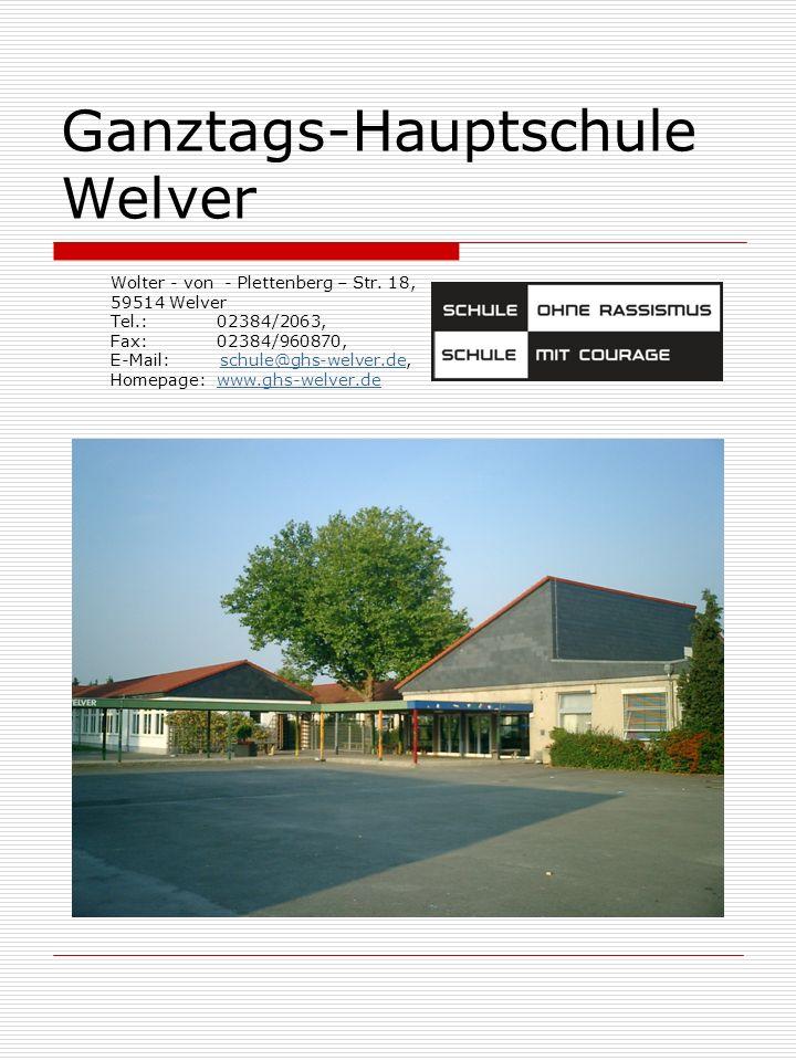 Ganztags-Hauptschule Welver Wolter - von - Plettenberg – Str.