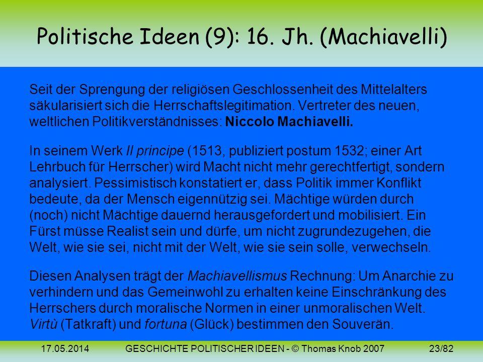 17.05.2014GESCHICHTE POLITISCHER IDEEN - © Thomas Knob 200722/82 Politische Ideen (7-8): Bilder Thomas von Aquin Thomas More (Morus) (~1225-1274) (147