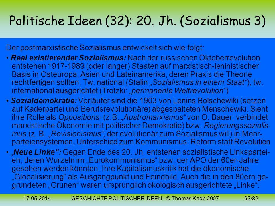 17.05.2014GESCHICHTE POLITISCHER IDEEN - © Thomas Knob 200761/82 Politische Ideen (31): Bilder Karl Marx (1818-1883) Friedrich Engels (1820-1895)