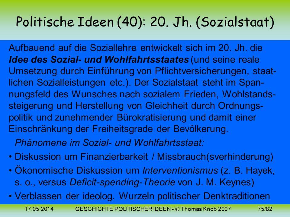 17.05.2014GESCHICHTE POLITISCHER IDEEN - © Thomas Knob 200774/82 Politische Ideen (37/39): Bilder Karl R. Popper (1902-1994) Joseph Schumpeter (1883-1