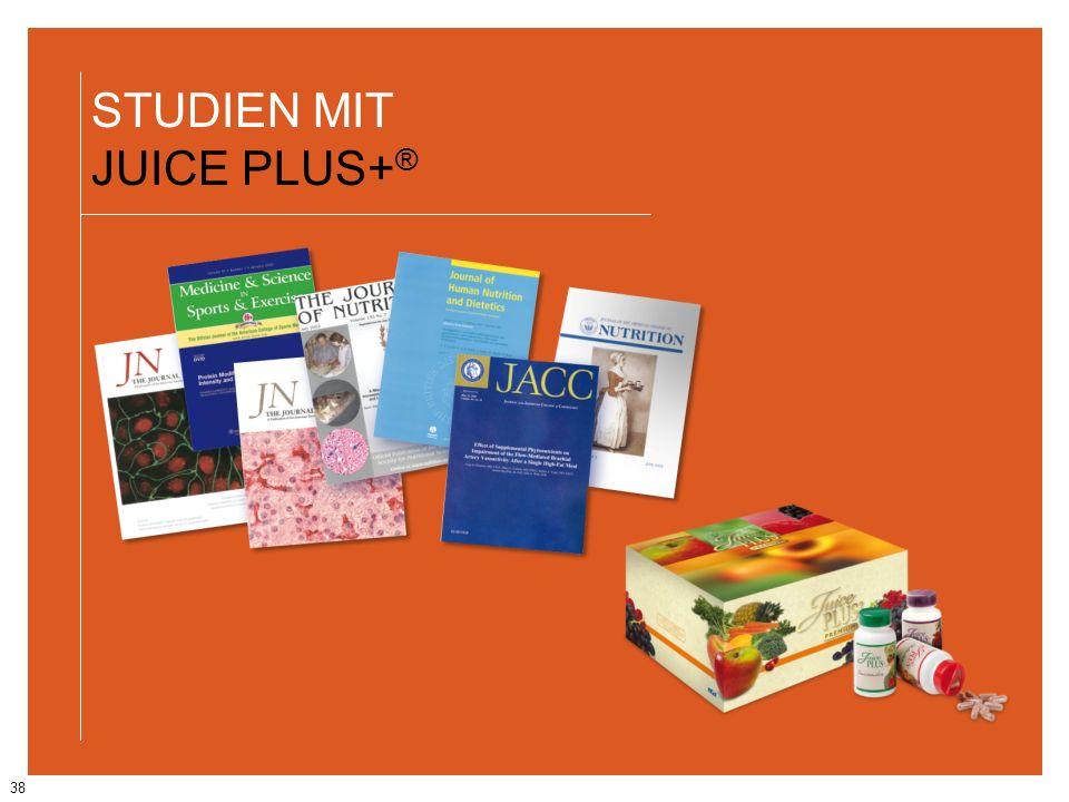 38 STUDIEN MIT JUICE PLUS+ ®