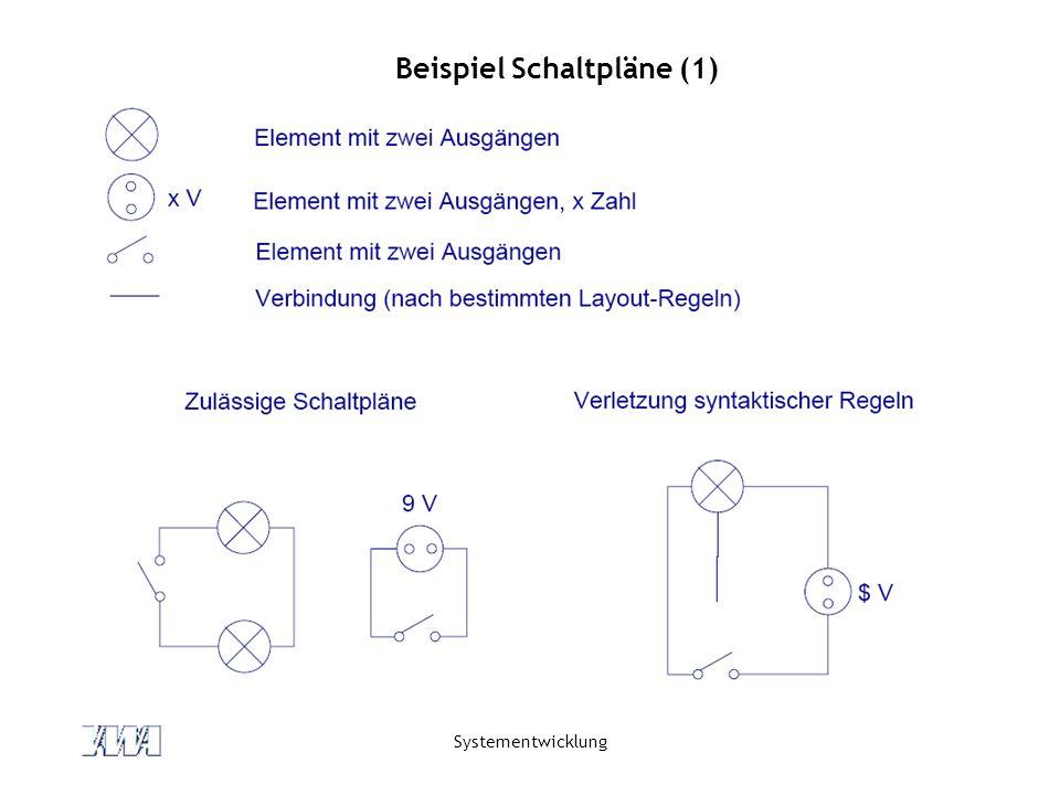Systementwicklung Beispiel Schaltpläne (1)