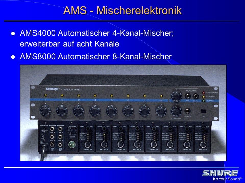 AMS - Mischerelektronik AMS4000 Automatischer 4-Kanal-Mischer; erweiterbar auf acht Kanäle AMS8000 Automatischer 8-Kanal-Mischer