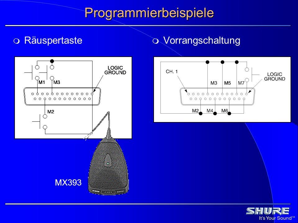 Programmierbeispiele Räuspertaste Vorrangschaltung MX393